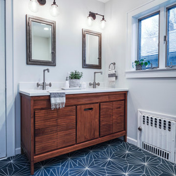 Modern Bohemian Tudor | Guest Bathroom