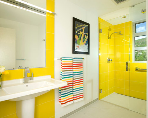 SaveEmail. Yellow Tile Bathroom Ideas  Pictures  Remodel and Decor