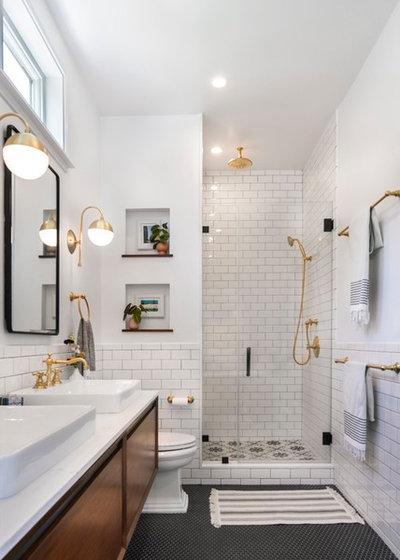 Transitional Bathroom by Sato Architects, Inc.