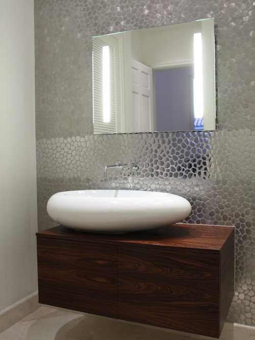 river rock tile home design ideas pictures remodel and decor