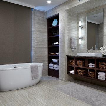 Modern Coastal Bathroom, Wilmington, NC