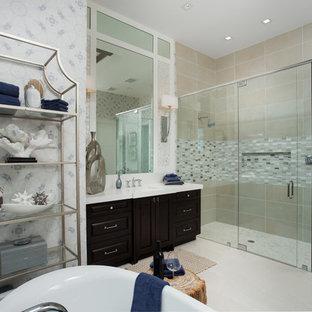 Bathroom - coastal bathroom idea in Miami