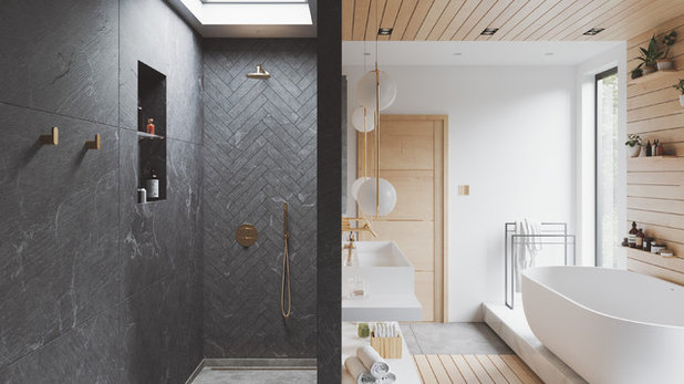 Modern Bathroom by Dibujo.design Interiors