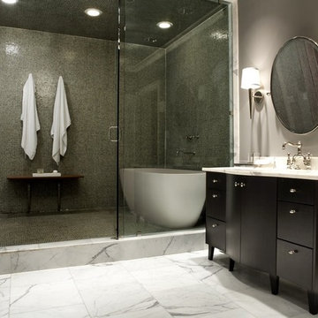 Modern Craftsman Master Bathroom