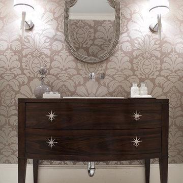Modern Craftsman Powder Bath