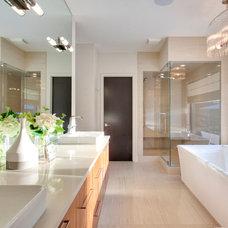 Modern Bathroom by Capstone Custom Homes