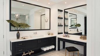 Modern Dark Master Bathroom
