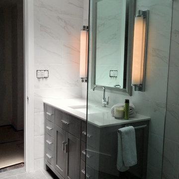 Modern design for West LA bathroom