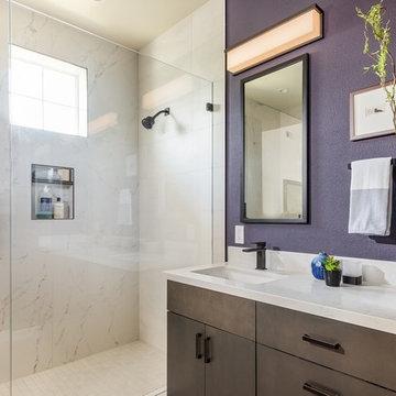 Modern Dramatic Master Bath, San Jose, CA