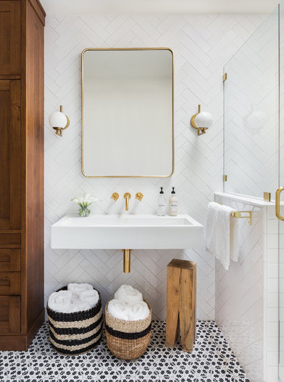Bathroom Vanity Lighting Pendant Transitional Bathroom By Built Design Collective Houzz How To Choose Your Bathroom Vanity Lighting