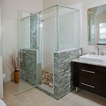 Modern Eclectic Master Bathroom- North Wales, PA