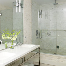 Industrial Bathroom by Croma Design Inc