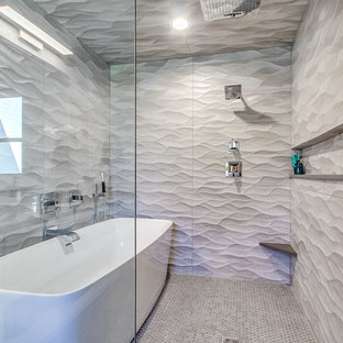 Popular Oklahoma City Bathroom With Quartzite Countertops Design - Ceramic tile okc