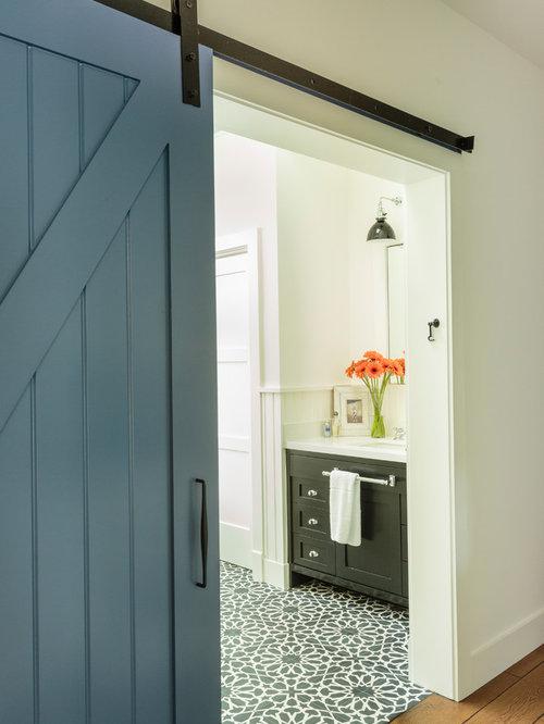 salle de bain campagne avec une douche double photos et id es d co de salles de bain. Black Bedroom Furniture Sets. Home Design Ideas