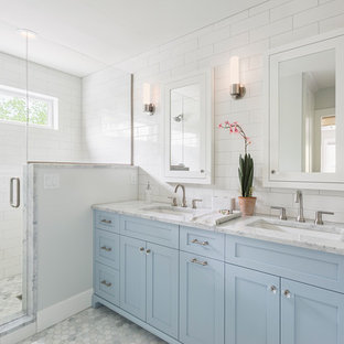 75 Beautiful Bathroom With Blue Cabinets Pictures Ideas April 2021 Houzz