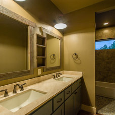 Farmhouse Bathroom by Barron Custom Design, LLC