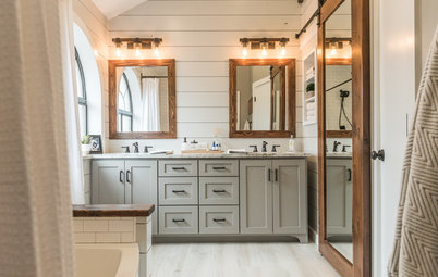 Family Tackles a Modern Farmhouse-Style Master Bath Remodel