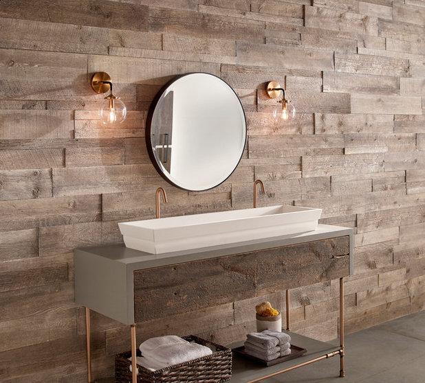 Farmhouse Bathroom by Eldorado Stone