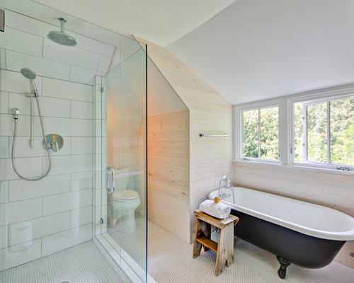 large white subway tile houzz. Black Bedroom Furniture Sets. Home Design Ideas