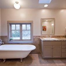 Farmhouse Bathroom by Kirk Design and Construction