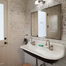 Farmhouse Bathroom by Modern Organic Interiors