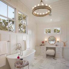 Farmhouse Bathroom by Modern Organic Interiors