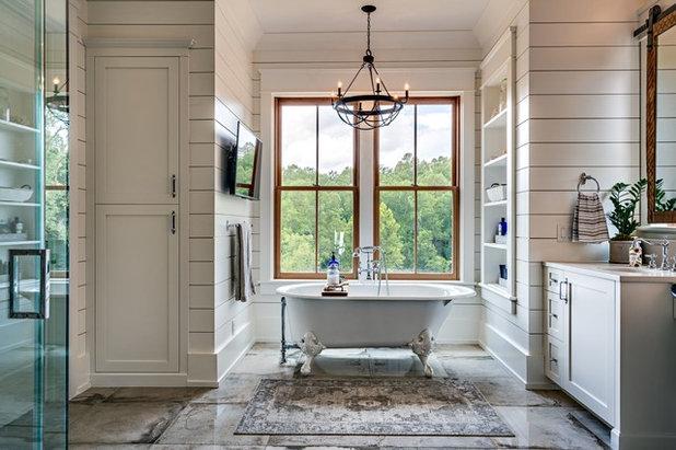 Farmhouse Bathroom by Old Hillsboro Building Company