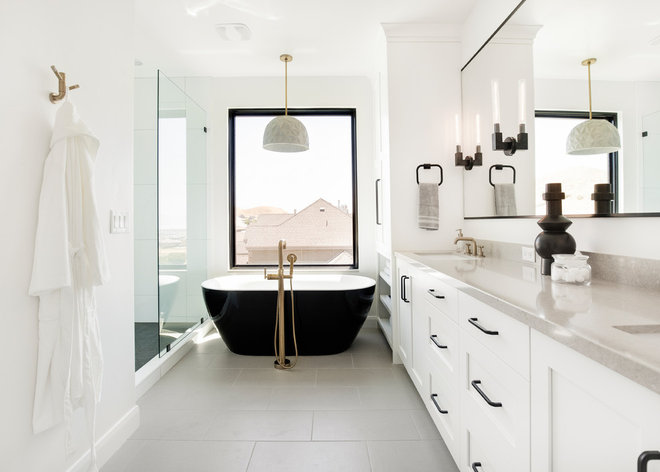Transitional Bathroom by Ezra Lee Design+Build