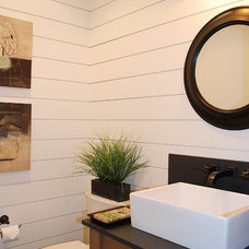 Farmhouse Bathroom by Judith Balis Interiors