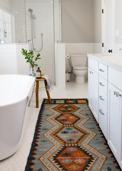 Transitional Bathroom by Rebecca Interiors & Design by Numbers