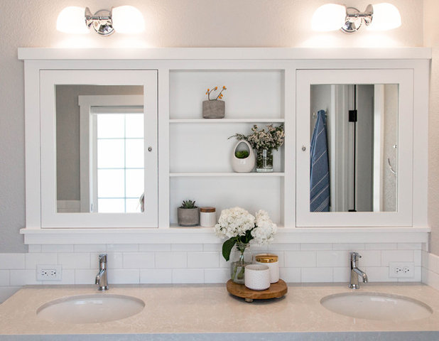 Amazing Farmhouse Bathroom by Rebecca Interiors u Design by Numbers