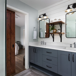 interior design master bathroom master bedroom bathroom midsized farmhouse master gray floor bathroom idea in portland with shaker cabinets 75 most popular master design ideas for 2018 stylish