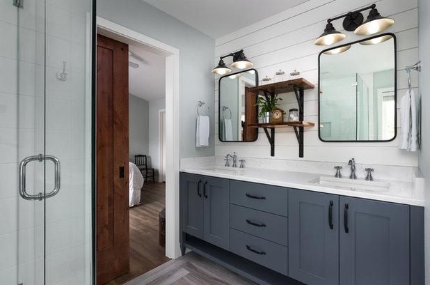 Farmhouse Bathroom by Rockwood Cabinetry