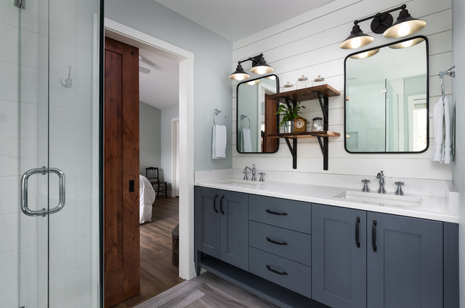 Farmhouse Bathroom by Rockwood Cabinetry