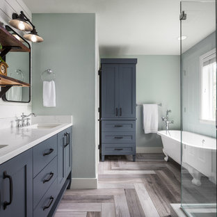 Inspiration For A Mid Sized Cottage Master Gray Floor Bathroom Remodel In Portland With Shaker