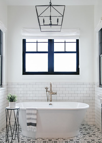 Farmhouse Bathroom by Sita Montgomery Interiors