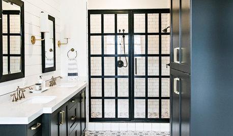 Photothèque : 50 salles de bains voient la déco en noir et blanc