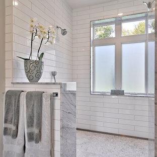 Bathroom - farmhouse bathroom idea in Austin