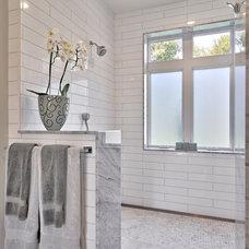 Farmhouse Bathroom by Tim Brown Architecture