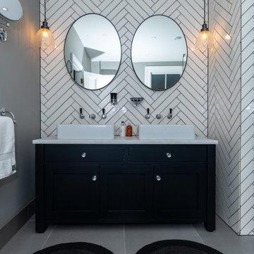 Modern Glass & Metal Bathroom and Wetroom