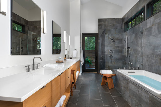 majestic 1920s bathroom vanity. Contemporary Bathroom by ID ology Interiors  Design Data Watch Top Styles and Colors for Master Bath Renovations Now