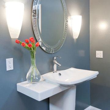 Modern Gray Bathroom Remodel