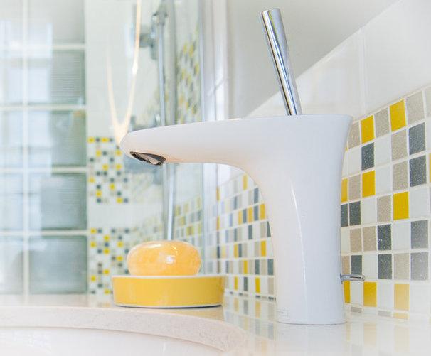 Modern Bathroom by Red Egg Design Group