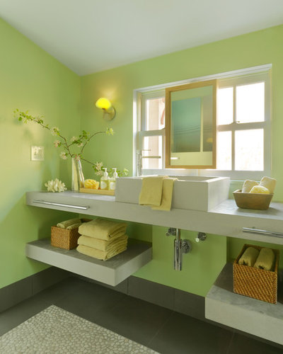 Spring Forward With A Green Bathroom