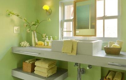 Spring Forward With a Green Bathroom
