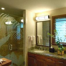 Tropical Bathroom by Fine Design Interiors, Inc