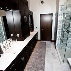 Industrial Bathroom by Callier & Thompson Kitchens, Baths and Appliances