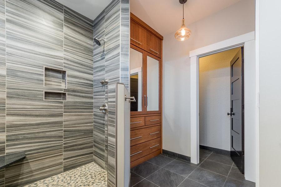 Modern Industrial Master Suite Bathroom St Joseph