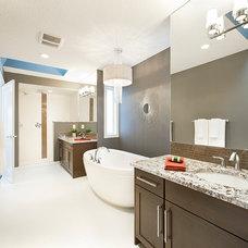 Contemporary Bathroom by Trickle Creek Custom Homes