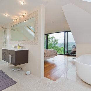 Inspiration for a contemporary bathroom remodel in Sussex
